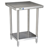 Regency 16 Gauge All Stainless Steel Commercial Work Table - 24 inch x 24 inch with Undershelf