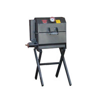 R & V Works 12 inch x 18 inch Cajun Grill Jr. with Removable Stand - 45,000 BTU, LP