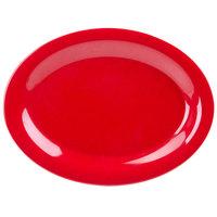 GET OP-120-RSP Red Sensation 12 inch x 9 inch Oval Platter - 12/Case
