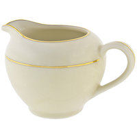 10 Strawberry Street CGLD0016 8 oz. Cream Double Gold Line Creamer - 6/Case