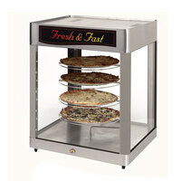 Star HFD3APTCR 28 1/4 inch Pass-Through Humidified Pizza Display Case with Four 18 inch Pizza Racks