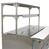 Delfield Stainless Steel Double Overshelf - 27 inch x 16 inch