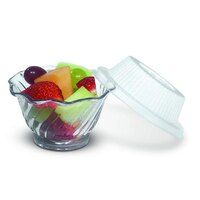 Dinex DX11820174 Classic Clear Disposable Lid for Dinex DXSWC5 5 oz. Tulip Cups 1000 / Case