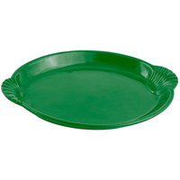 Bon Chef 2072 12 inch x 17 inch Sandstone Calypso Green Cast Aluminum Shell and Fish Platter