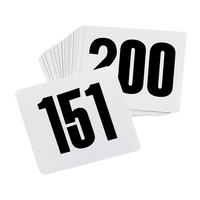 Table Number Card Set - 151 to 200
