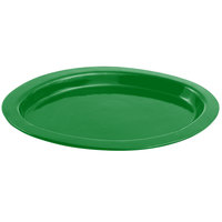 Bon Chef 5110 11 inch x 17 inch Sandstone Calypso Green Cast Aluminum Oval Casserole Dish