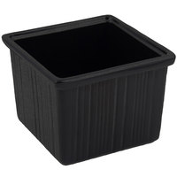Bon Chef 9503 28 oz. Sandstone Black Speckled Cast Aluminum Space Saver Garnish Bowl