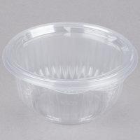 Dart C16HBF PresentaBowls 16 oz. Clear Hinged Plastic Bowl with Flat Lid - 300/Case