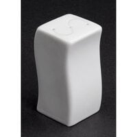 CAC SOH-SS Soho 3 inch American White (Ivory / Eggshell) Stoneware Salt Shaker - 48/Case