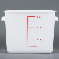 Rubbermaid 9F05 6 Qt. White Square Food Storage Container (FG9F0500WHT)