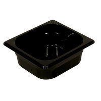 Rubbermaid FG210P00BLA 1/4 Size Black High Heat Food Pan - 2 1/2 inch Deep