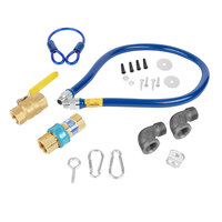 Dormont 1675KIT60 Deluxe SnapFast® 60 inch Gas Connector Kit with Two Elbows and Restraining Cable - 3/4 inch Diameter