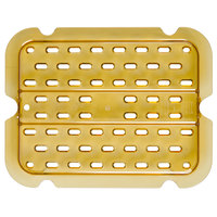 Rubbermaid FG127P00AMBR 1/2 Size Amber High Heat Drain Tray