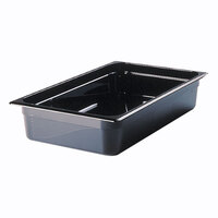 Rubbermaid FG231P00BLA Full Size Black High Heat Food Pan - 4 inch Deep