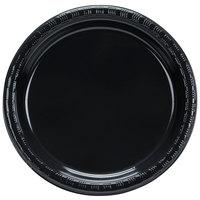 """Creative Converting 28134011B 7"""" Black Velvet Plastic Plate - 600/Case"""