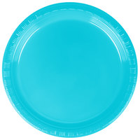 Creative Converting 28103911 7 inch Bermuda Blue Plastic Lunch Plate - 240/Case