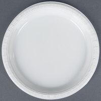 Creative Converting 28000011B 7 inch White Plastic Banquet Plate - 600 / Case