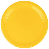Creative Converting 28102111B 7 inch School Bus Yellow Plastic Lunch Plate - 600 / Case