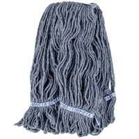Continental A11213 32 oz. Blue Loop End Natural Cotton Mop Head with 1 1/4 inch Band