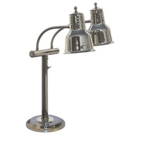 Hanson Heat Lamps EDL/RB9/SOL/CH Dual Bulb Freestanding Flexible Heat Lamp with Chrome Finish - 9 inch Round Base
