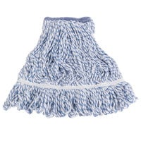 Continental A11411 16 oz. Blue and White Blend Loop End Mop Head with 1 1/4 inch Band