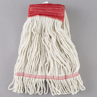 Continental A02501 J.W. Atomic Loop™ 16 oz. Blend Loop End Natural Mop Head with 5 inch Band