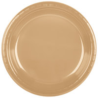 Creative Converting 28103031B 10 inch Glittering Gold Plastic Banquet Plate - 600 / Case