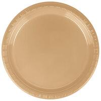 Creative Converting 28103011B 7 inch Glittering Gold Plastic Plate - 600 / Case