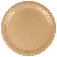 Creative Converting 28103011B 7 inch Glittering Gold Plastic Plate - 600/Case