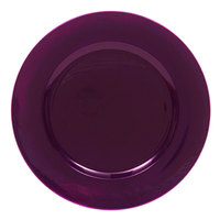 The Jay Companies 13 inch Round Purple Polypropylene Charger Plate