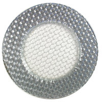The Jay Companies 13 inch Round Glass Braid Silver Glitter Charger Plate
