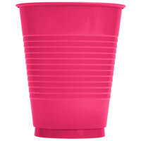 Creative Converting 28177081 16 oz. Hot Magenta Plastic Cup - 240/Case