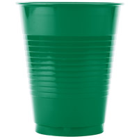 Creative Converting 28112081 16 oz. Emerald Green Solid Plastic Cup - 240 / Case