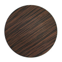 The Jay Companies 13 inch Round Brown Pine Faux Wood Charger Plate