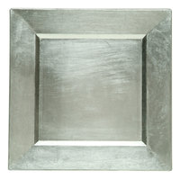 The Jay Companies 13 inch x 13 inch Square Silver Polypropylene Charger Plate