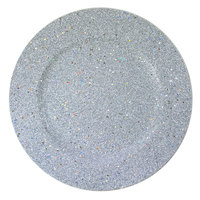 The Jay Companies 13 inch Round Silver Glitter Polypropylene Charger Plate