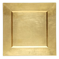 The Jay Companies 13 inch x 13 inch Square Gold Polypropylene Charger Plate