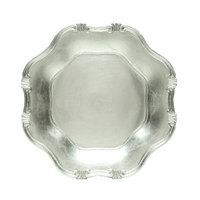 The Jay Companies 13 inch Round Silver Baroque Polypropylene Charger Plate