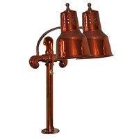 Hanson Brass DL/FM/SC Dual Bulb Flexible Heat Lamp with Smoked Copper Finish