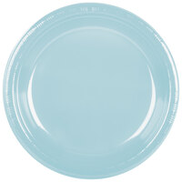 Creative Converting 28157031 10 1/4 inch Pastel Blue Plastic Banquet Plate - 240 / Case
