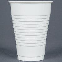 Creative Converting 28000071 12 oz. White Plastic Cup - 240 / Case
