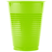 Creative Converting 28312381 16 oz. Fresh Lime Plastic Cup - 240 / Case