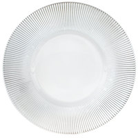The Jay Companies 13 inch Round Clear Sunray Glass Charger Plate