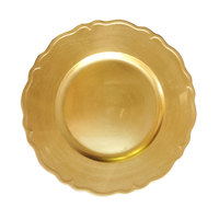 The Jay Companies 13 inch Round Gold Regency Polypropylene Charger Plate