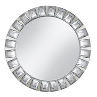 The Jay Companies 13 inch Round Large Jeweled Glass Mirror Charger Plate