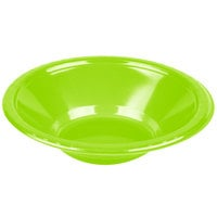 Creative Converting 28312351 12 oz. Fresh Lime Green Plastic Bowl - 240 / Case
