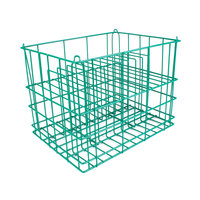 14 Compartment Catering Plate Rack for Square Plates up to 8 1/4 inch - Wash, Store, Transport