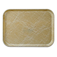 Cambro 1014214 10 5/8 inch x 13 3/4 inch Rectangular Abstract Tan Fiberglass Camtray - 12/Case
