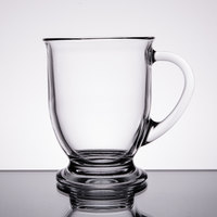 Anchor Hocking 83045A Customizable 16 oz. Glass Cafe Mug - 6/Case