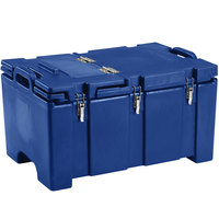Cambro 100MPCHL186 Camcarrier Navy Blue Top loading Pan Carrier with Hinged Lid for 12 inch x 20 inch Food Pans